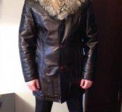 Куртка из натуральной кожи на подкладке из овчины