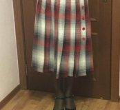 Длинная клетчатая юбка