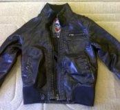 Куртка кожанная детская