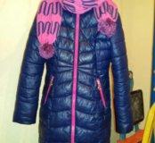 Пальто зимнее рост 140-146