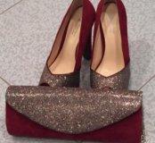 Отличные туфли и клатч к Праздничному наряду!