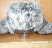 Зимняя шапка енот (ушанка)