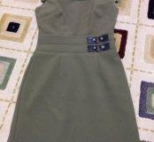 Платье зеленое, размер XS-S