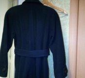 Пальто темно-синее размер L