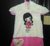 Платье для девочки меховое р 98. новое