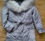 Пальто с натуральной меховой подстежкой ТОРГ