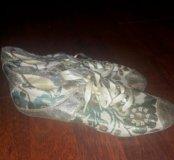 Туфли женские(нат.кожа+ткань)