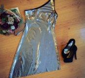 Серебристое платье OGGI