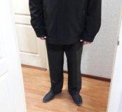 Куртка -пальто с тёплой подстёжкой.