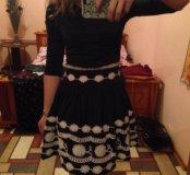 платье солнышко с цветами