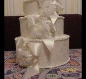 Коробка для денег на свадьбу  (торт)