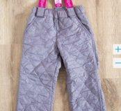 Новые утеплённые брюки, размер 3-4 года