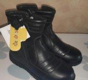 Новые кожаные сапоги.32 размер