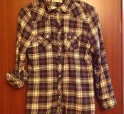 Фланелевая рубашка 44-46 размер
