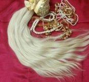 Волосы для наращивания.Блонд 60см 100гр срез