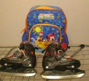 Коньки для мальчика размер 27-30 Nordway Slide