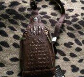 Клатч мужской из крокодильей кижи
