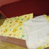 Уголок в детскую кроватку с балдахином и крепление