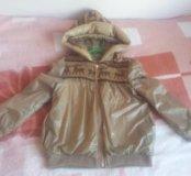 Куртка весенняя на девочку р 111-116