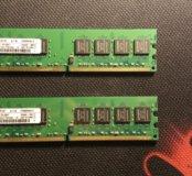 Kingston память 1gb+1gb DDR2