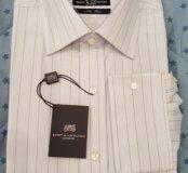 Новая мужская рубашка 40 размера под запонки
