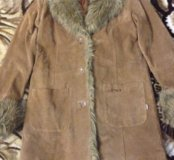 Пальто, натуральная замша