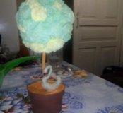 Дерево из салфеток