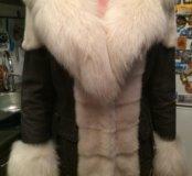 Продаю кожаную куртку с писцовым воротником