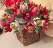 Съедобные цветы из гофрированной бумаги😋