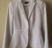 Пиджак Massimo Dutti белый