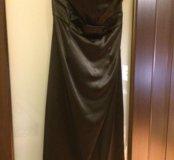Нарядное атласное платье бюстье
