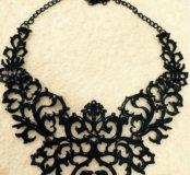 Колье ожерелье черное