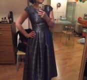 Платье в синий горох Merlis Atelier
