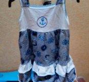 Комплект платье + косынка б/у