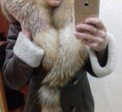 Дубленка с натуральным мехом лисы