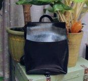 Женский рюкзак-сумка из натуральной кожи