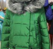 Зимний пуховик с мехом новый