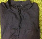 Чёрная блуза атласная Zara