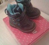 Ботинки зимние новые 23