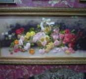 """Картина лентами """"Розы"""""""