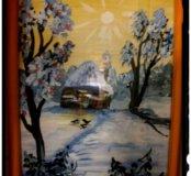 Картина Зимняя сказка гуашь