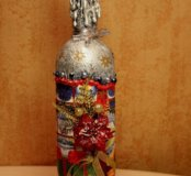 Бутылки (декупаж)