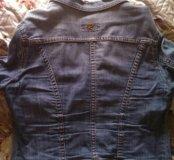 Джинцовая куртка голубая