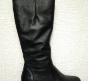 Зимние кожаные новые сапоги