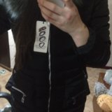 Чёрная зимняя куртка