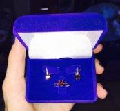 Серьги, кольцо серебрянные