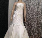 Платье русалка выпускное -свадебное