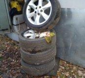Комплект литых дисков Nissan Juke на летней резине