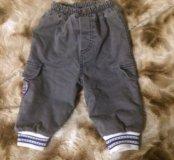 Тёплые штаны на 6-9 месяцев