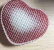 Мыльное вязаное сердце